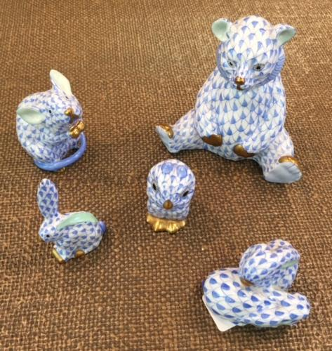 COLLECTION OF BLUE HEREND ANIMALS $39 - $120