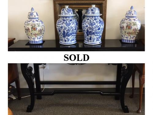 """60"""" BLACK PAINTED ASIAN STYLE CONSOLE-$995"""
