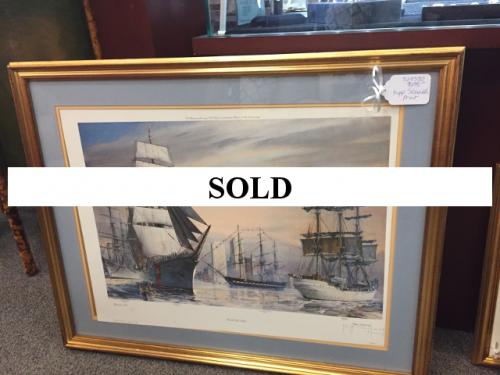 1980 BOSTON HARBOR OPERATION SAIL PRINT SIGNED & NUMBERED BY KIPP SOLDWEDEL