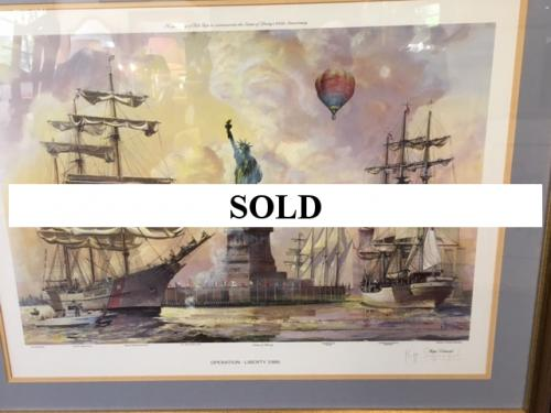 1986 OPERATION LIBERTY PRINT SIGNED & NUMBERED BY KIPP SOLDWEDEL