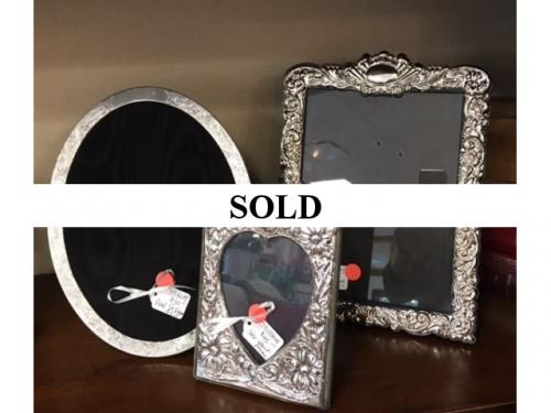 COLLECTION OF ENGLISH STERLING SILVER FRAMES $30 - $60