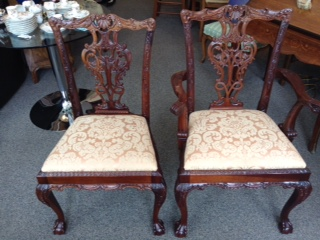 CHIPPENDALE STYLE CHAIRS SET OF 6 SIDE & 2 ARM REG. $1495 PRICED TO SELL $995