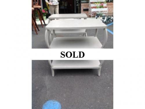 SCALLOPED SIDE TABLE PAIR AVAILABLE $995 EACH
