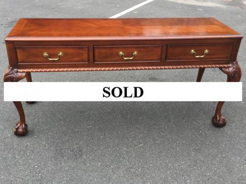 WALNUT CONSOLE/SOFA TABLE $150