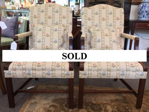 PAIR OF REGENCY STYLE CHAIRS $550 FOR PAIR