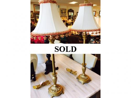 PAIR OF BUFFET LAMPS $125