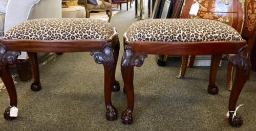 """LEOPARD BENCHES 23""""W X 17""""D X 19""""H $150 EACH-ONLY 1 LEFT"""