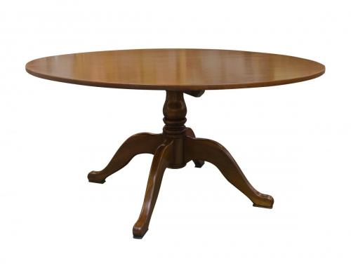 English Cherry 60 in Round Table Pedestal Base