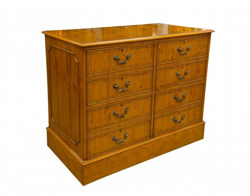 English Yew Dble Filing Cab 40.5W x 21.5D x 32.5H