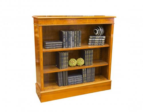 English Yew Low Bookcase 40W x 12D x 40H