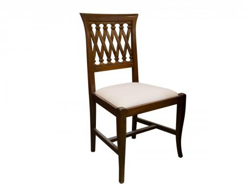 Italian Lattice Walnut DR- Side Chair 19W x 18D x 39H