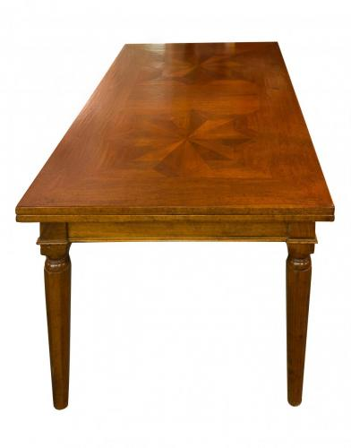 Italian Walnut InlayTable Draw Leaf- 42W x 6.5'L x 32H